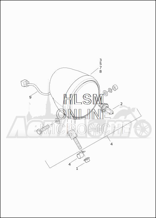 Запчасти для Мотоцикла Harley-Davidson 2019 XG750 STREET 750 (NB) Раздел: HEADLIGHT ASSEMBLY | передняя фара в сборе
