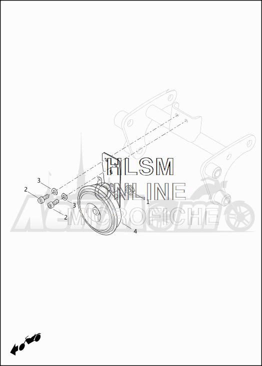 Запчасти для Мотоцикла Harley-Davidson 2019 XG750 STREET 750 (NB) Раздел: HORN ASSEMBLY | звуковой сигнал, гудок в сборе