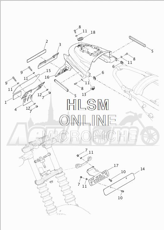 Запчасти для Мотоцикла Harley-Davidson 2019 XG750 STREET 750 (NB) Раздел: LICENSE PLATE ASSEMBLY | площадка номерного знака в сборе