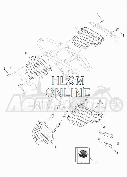 Запчасти для Мотоцикла Harley-Davidson 2019 XG750 STREET 750 (NB) Раздел: SAREE GUARDS | SAREE защита