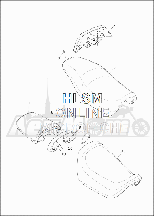 Запчасти для Мотоцикла Harley-Davidson 2019 XG750 STREET 750 (NB) Раздел: SEAT ASSEMBLY | сиденье в сборе