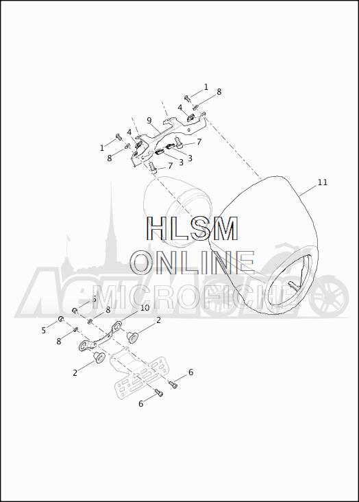 Запчасти для Мотоцикла Harley-Davidson 2019 XG750 STREET 750 (NB) Раздел: SPEED SCREEN | скорость экран