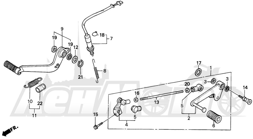 Запчасти для Мотоцикла Honda 1996 CBR600SJR Раздел: PEDAL | педаль