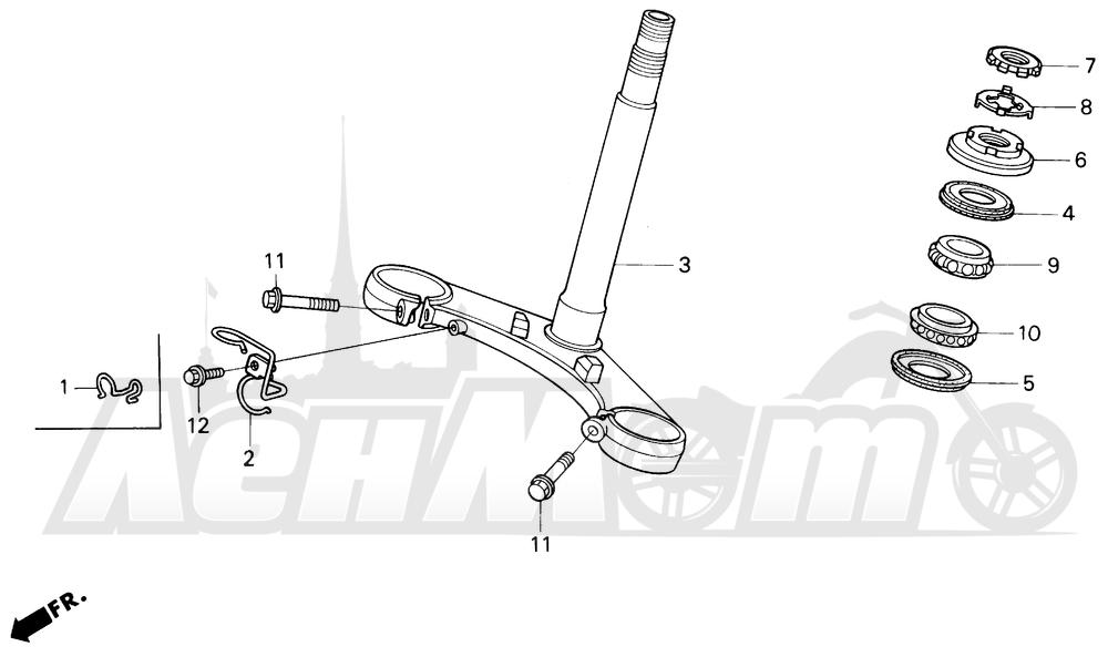 Запчасти для Мотоцикла Honda 1996 CBR600SJR Раздел: STEERING STEM | рулевое управление стойка