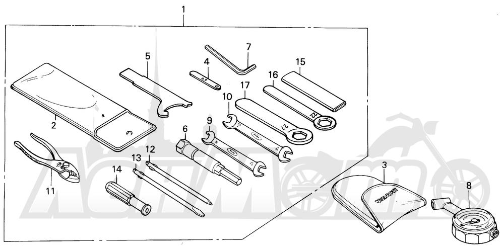Запчасти для Мотоцикла Honda 1996 CBR600SJR Раздел: TOOLS   интструменты