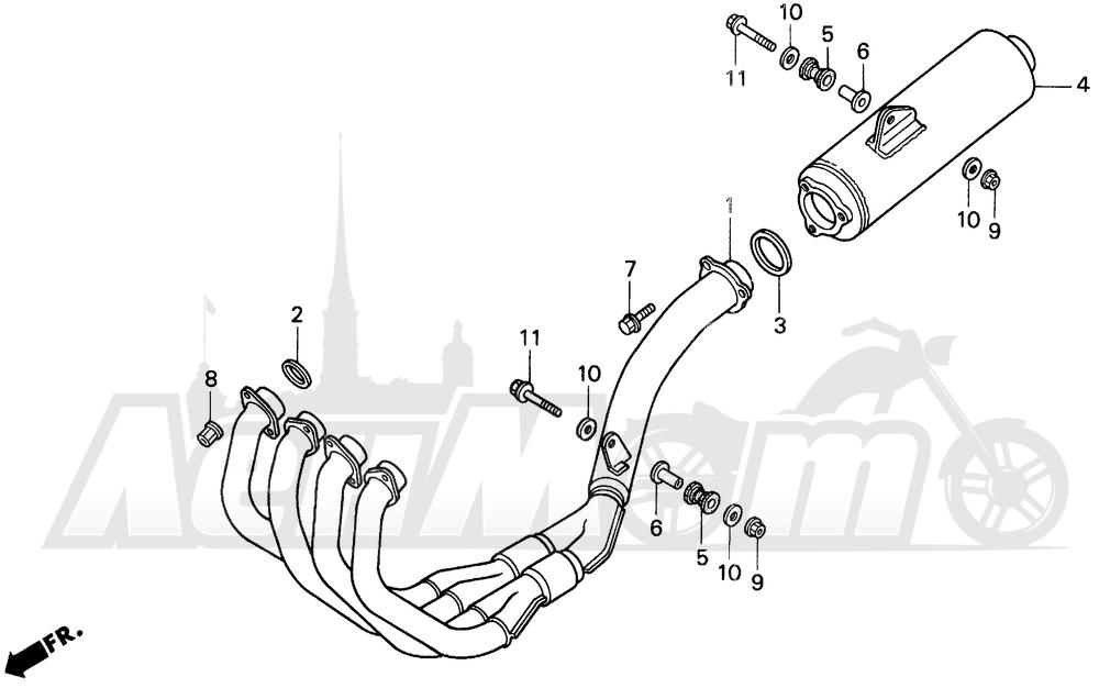 Запчасти для Мотоцикла Honda 1996 CBR900RR Раздел: MUFFLER   глушитель