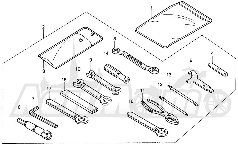 Запчасти для Мотоцикла Honda 1996 CBR900RR Раздел: TOOLS   интструменты