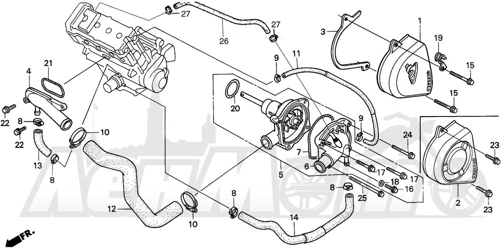 Запчасти для Мотоцикла Honda 1996 CBR900RR Раздел: WATER PUMP | водяная помпа