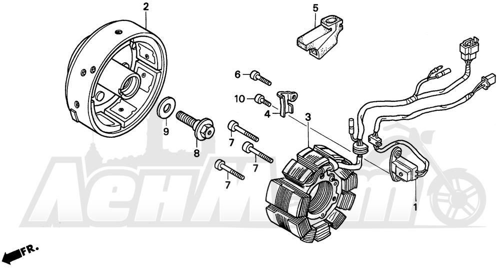 Запчасти для Мотоцикла Honda 1996 CMX250C Раздел: ALTERNATOR   генератор
