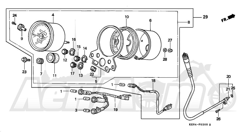Запчасти для Мотоцикла Honda 1996 CMX250C Раздел: SPEEDOMETER | спидометр