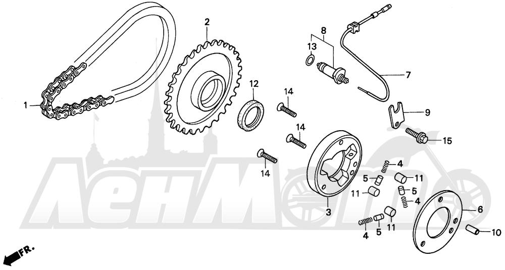 Запчасти для Мотоцикла Honda 1996 CMX250C Раздел: STARTER CLUTCH | муфта стартера