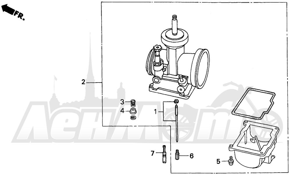 Запчасти для Мотоцикла Honda 1996 CR125R Раздел: CARBURETOR O.P. PARTS KIT | карбюратор O. P. детали комплект