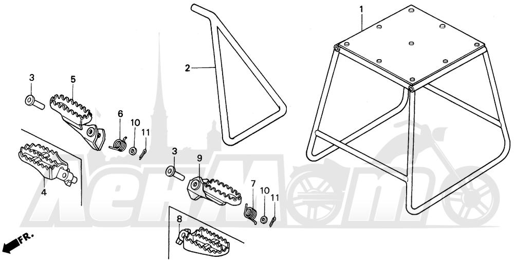 Запчасти для Мотоцикла Honda 1996 CR125R Раздел: STEP   подножка