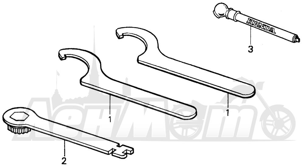 Запчасти для Мотоцикла Honda 1996 CR125R Раздел: TOOLS | интструменты