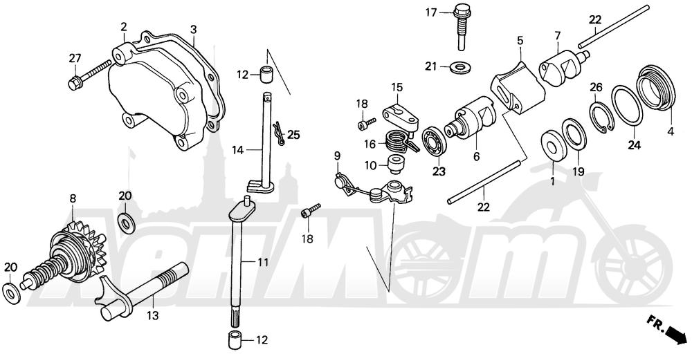 Запчасти для Мотоцикла Honda 1996 CR250R Раздел: EXHAUST VALVE 92-96 | выпускной клапан 92 96