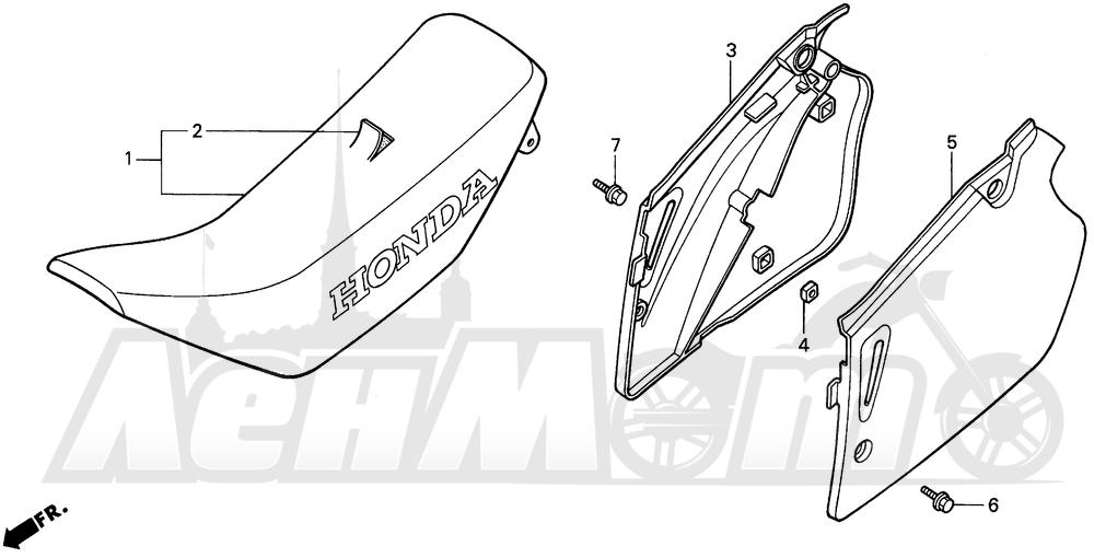 Запчасти для Мотоцикла Honda 1996 CR250R Раздел: SEAT 95-96 | сиденье 95 96