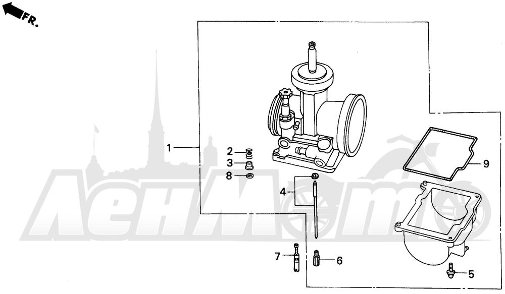 Запчасти для Мотоцикла Honda 1996 CR500R Раздел: CARBURETOR OPTIONAL KIT | карбюратор опционально комплект