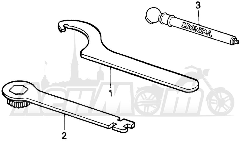 Запчасти для Мотоцикла Honda 1996 CR500R Раздел: TOOLS   интструменты