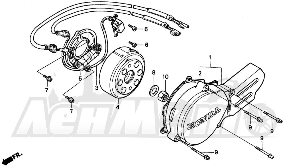 Запчасти для Мотоцикла Honda 1996 CR80R Раздел: LEFT CRANKCASE COVER | левая сторона крышка картера