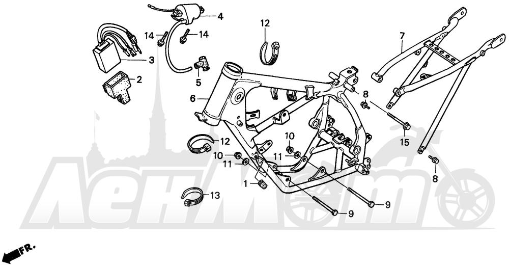 Запчасти для Мотоцикла Honda 1996 CR80R Раздел: FRAME | рама