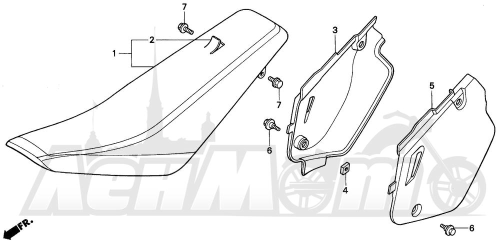 Запчасти для Мотоцикла Honda 1996 CR80R Раздел: SEAT | сиденье