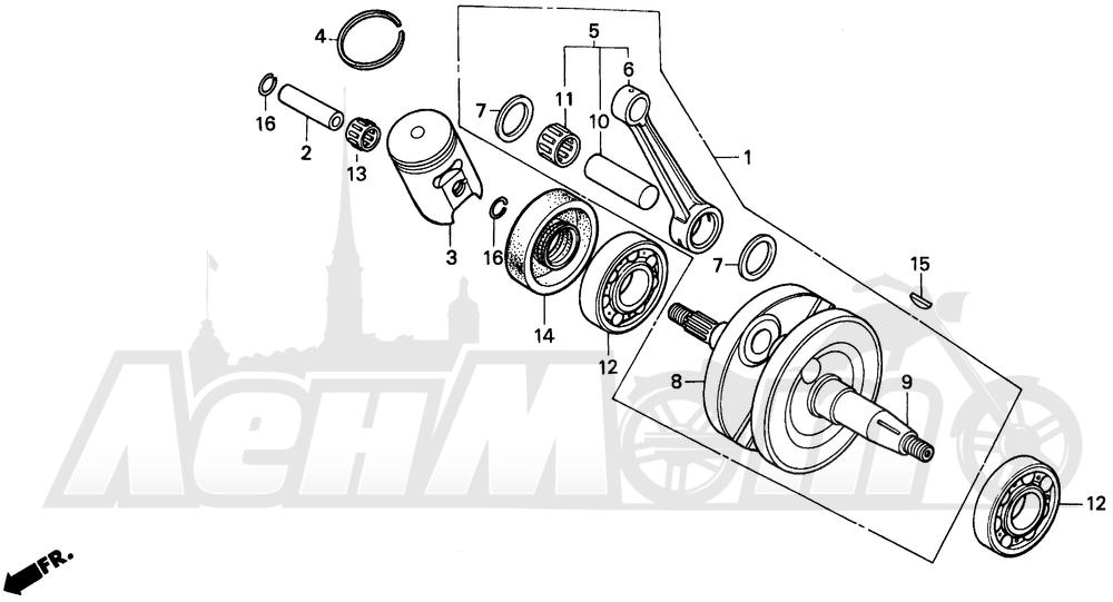 Запчасти для Мотоцикла Honda 1996 CR80RB Раздел: CRANKSHAFT   коленвал