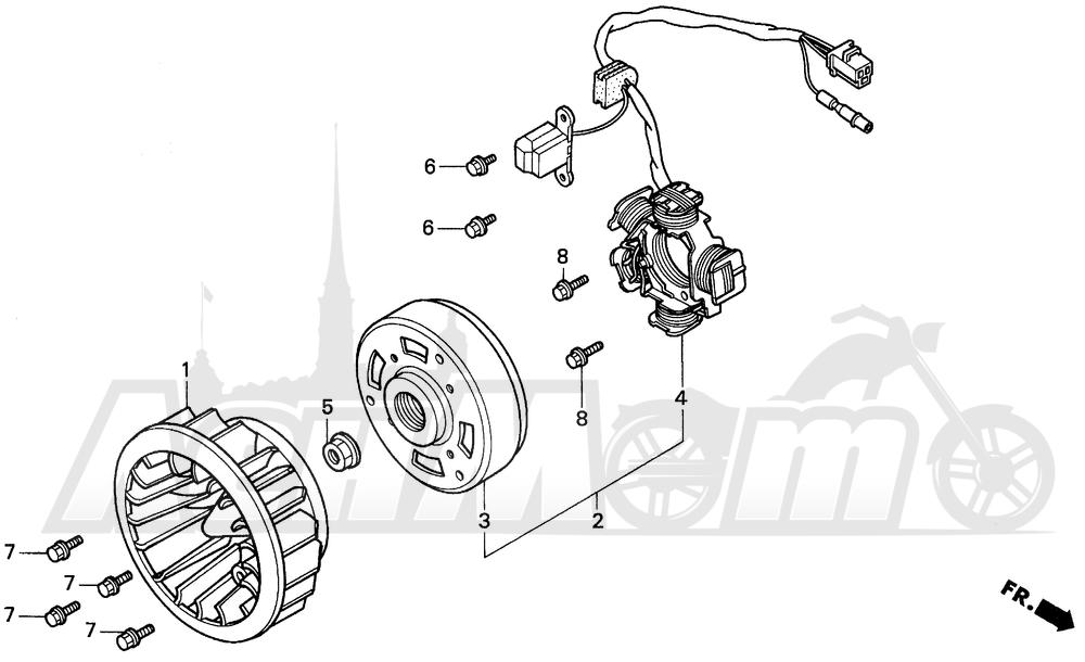 Запчасти для Мотоцикла Honda 1996 EZ90 Раздел: ALTERNATOR | генератор