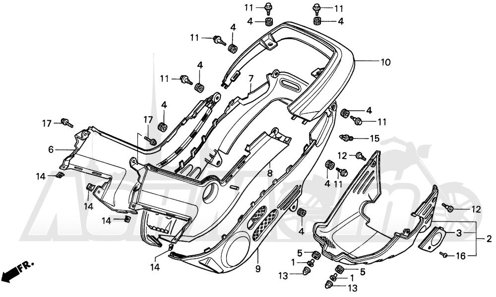 Запчасти для Мотоцикла Honda 1996 EZ90 Раздел: BODY COVER | корпус крышка