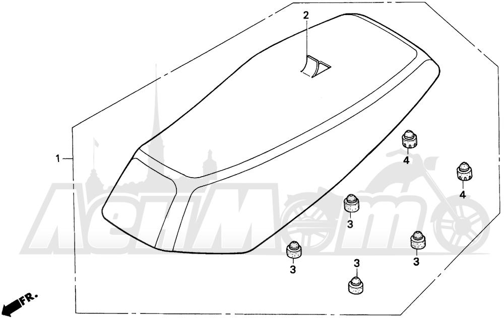 Запчасти для Мотоцикла Honda 1996 EZ90 Раздел: SEAT | сиденье