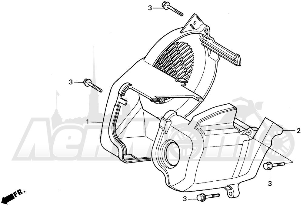 Запчасти для Мотоцикла Honda 1996 EZ90 Раздел: FAN COVER | вентилятор крышка
