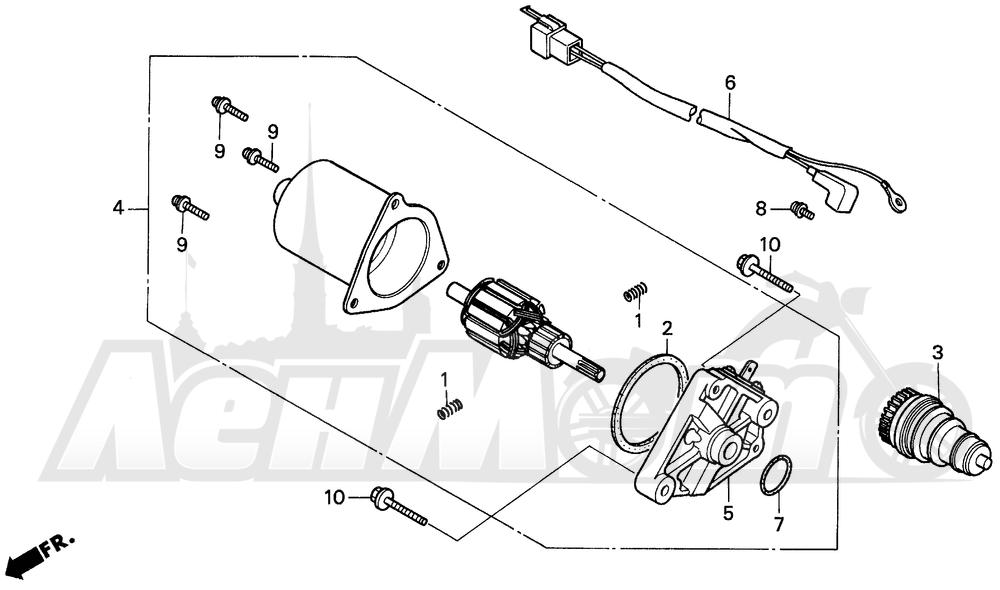 Запчасти для Мотоцикла Honda 1996 EZ90 Раздел: STARTING MOTOR | электростартер