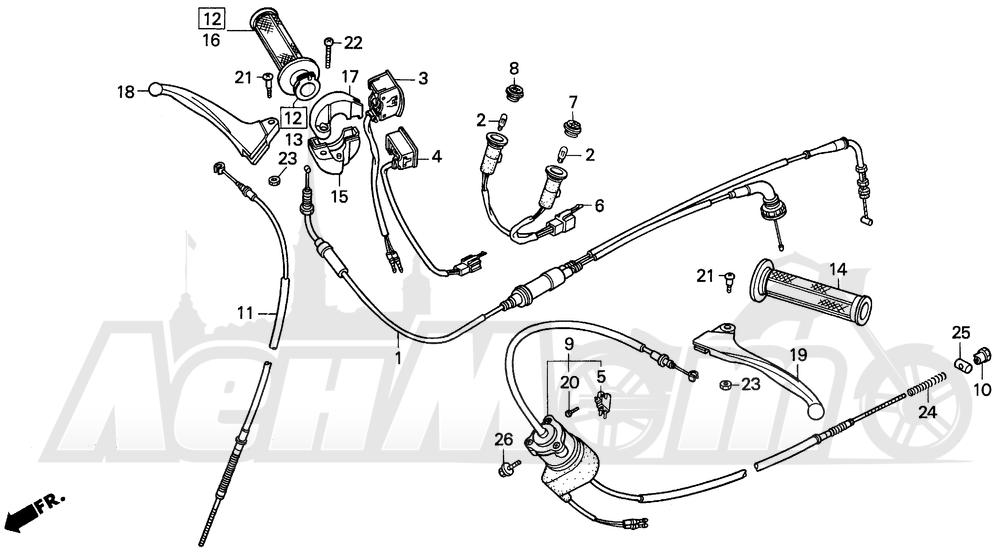 Запчасти для Мотоцикла Honda 1996 EZ90 Раздел: SWITCH | переключатель