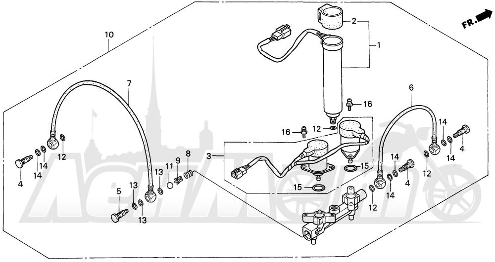 Запчасти для Мотоцикла Honda 1996 GL1500A Раздел: A / SE AIR DISTRIBUTOR   A/SE воздух распределитель зажигания (трамблер)
