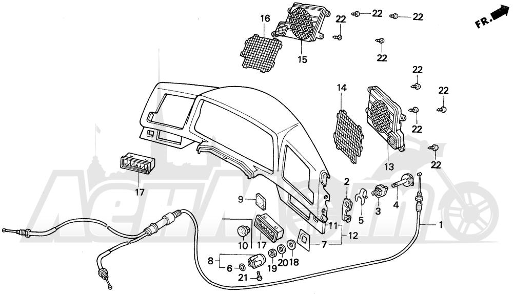 Запчасти для Мотоцикла Honda 1996 GL1500A Раздел: METER PANEL | счетчик панель