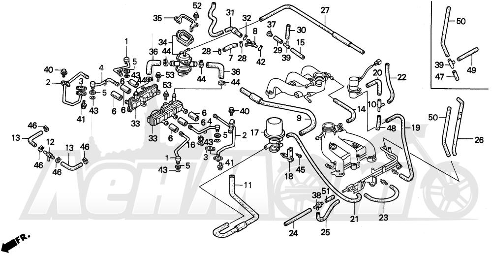 Запчасти для Мотоцикла Honda 1996 GL1500A Раздел: TUBING (2)   трубка (2)