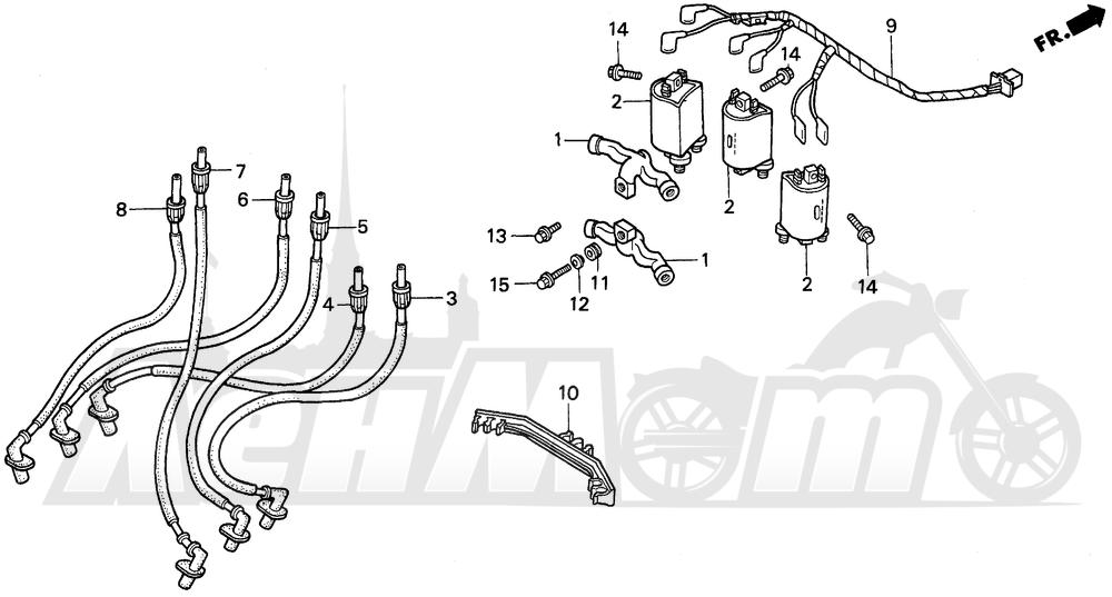 Запчасти для Мотоцикла Honda 1996 GL1500SE Раздел: IGNITION COIL   катушка зажигания