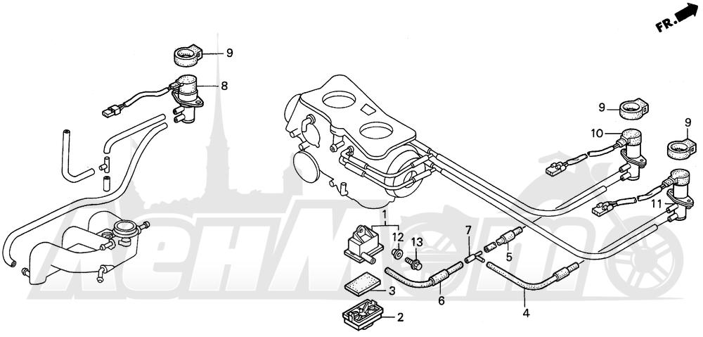 Запчасти для Мотоцикла Honda 1996 GL1500SE Раздел: PAIR SOLENOID VALVE | PAIR реле, соленоид клапан