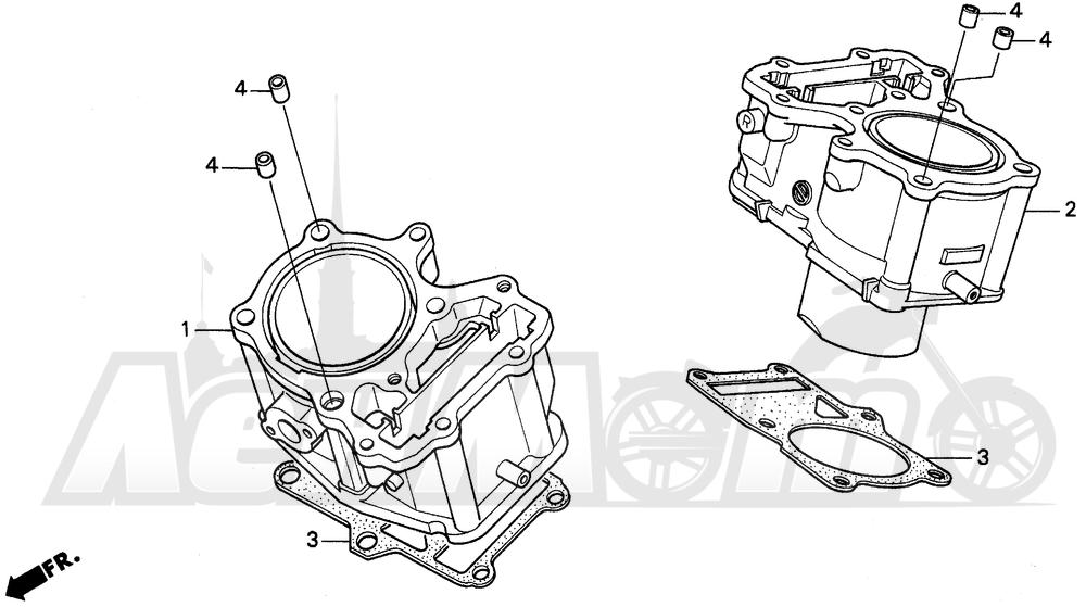Запчасти для Мотоцикла Honda 1996 PC800 Раздел: CYLINDER | цилиндр