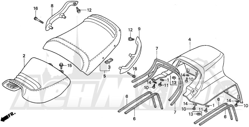 Запчасти для Мотоцикла Honda 1996 PC800 Раздел: SEAT   сиденье