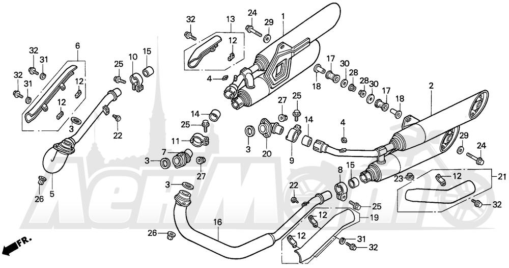 Запчасти для Мотоцикла Honda 1996 VF750C Раздел: MUFFLER | глушитель