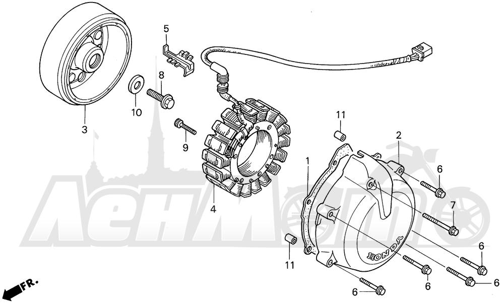 Запчасти для Мотоцикла Honda 1996 VF750CD Раздел: ALTERNATOR | генератор