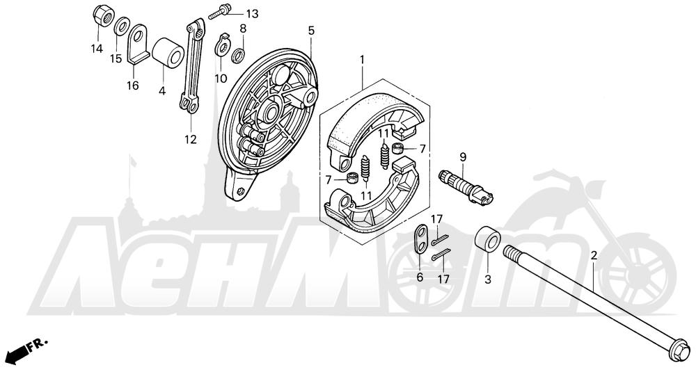 Запчасти для Мотоцикла Honda 1996 VF750CD Раздел: REAR BRAKE PANEL | задний тормоз панель