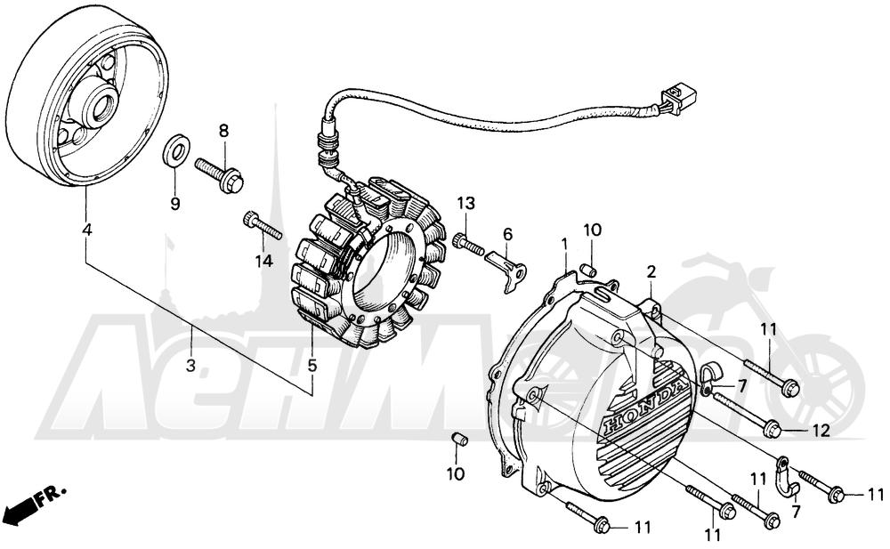 Запчасти для Мотоцикла Honda 1996 VFR750F Раздел: ALTERNATOR | генератор