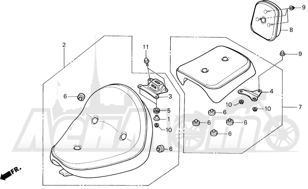 Запчасти для Мотоцикла Honda 1996 VT1100C Раздел: VT1100C SEAT 95-96 | VT1100C сиденье 95 96
