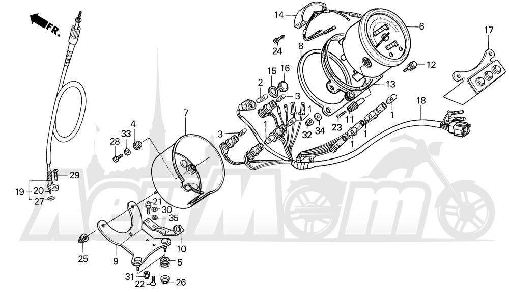 Запчасти для Мотоцикла Honda 1996 VT1100C Раздел: VT1100C SPEEDOMETER 95-96   VT1100C спидометр 95 96