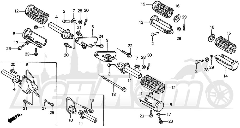 Запчасти для Мотоцикла Honda 1996 VT1100C Раздел: VT1100C STEPS | VT1100C STEPS