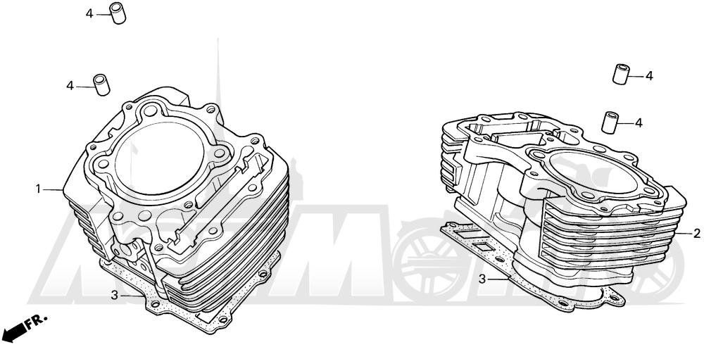 Запчасти для Мотоцикла Honda 1996 VT1100C Раздел: VT1100C CYLINDER | VT1100C цилиндр