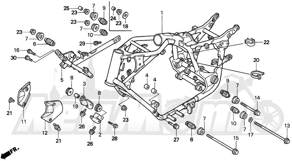 Запчасти для Мотоцикла Honda 1996 VT1100C2 Раздел: VT1100C2 FRAME | VT1100C2 рама