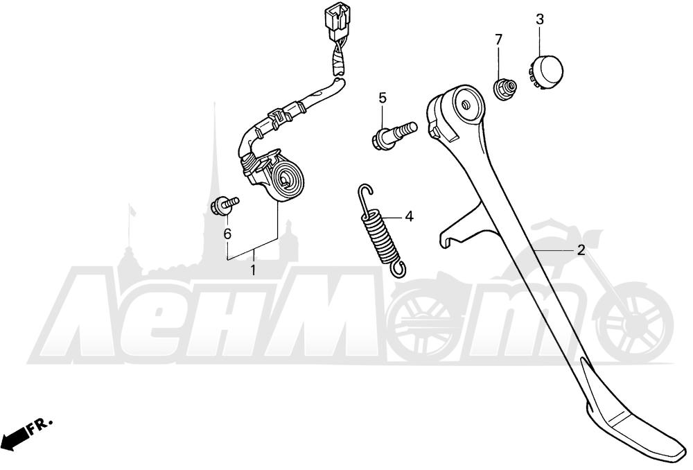 Запчасти для Мотоцикла Honda 1996 VT1100C2 Раздел: 1100C / C2 STAND 95-97 | 1100C/C2 подставка 95 97
