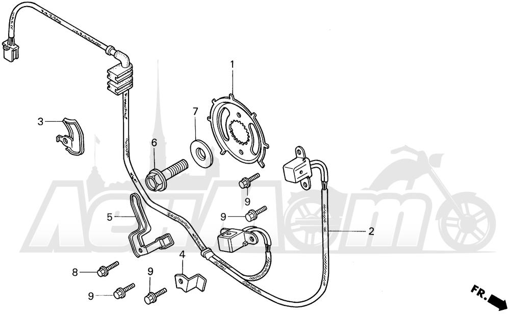 Запчасти для Мотоцикла Honda 1996 VT1100C2 Раздел: 11OOC / C2 IGNITION PULSE GENERATOR 95-96   11OOC/C2 зажигание PULSE генератор 95 96